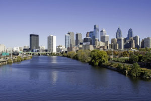 Philadelphia Skyline and Schuylkill river