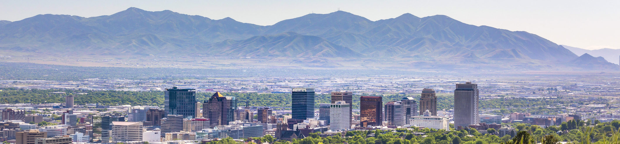 Salt Lake City Views with downtown mountains